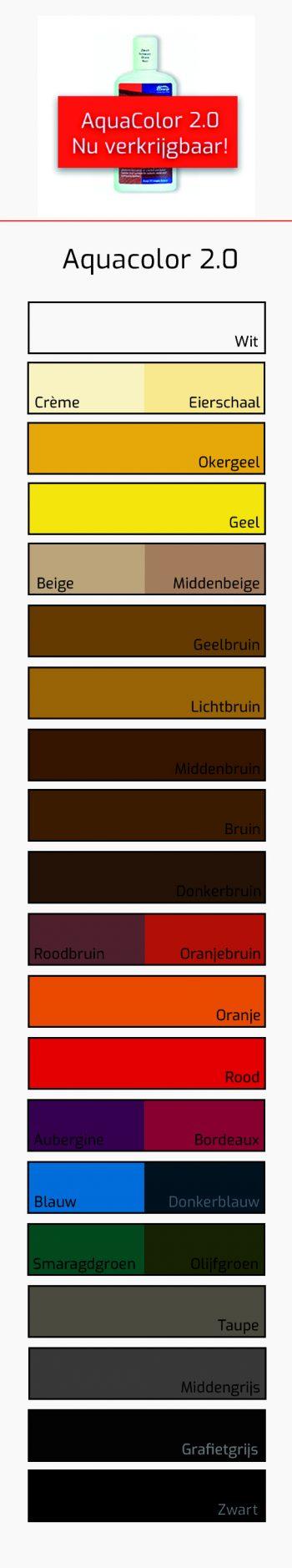 Kleurkaart Aquacolor 2.0