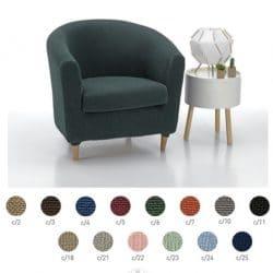Milan - ronde fauteuil